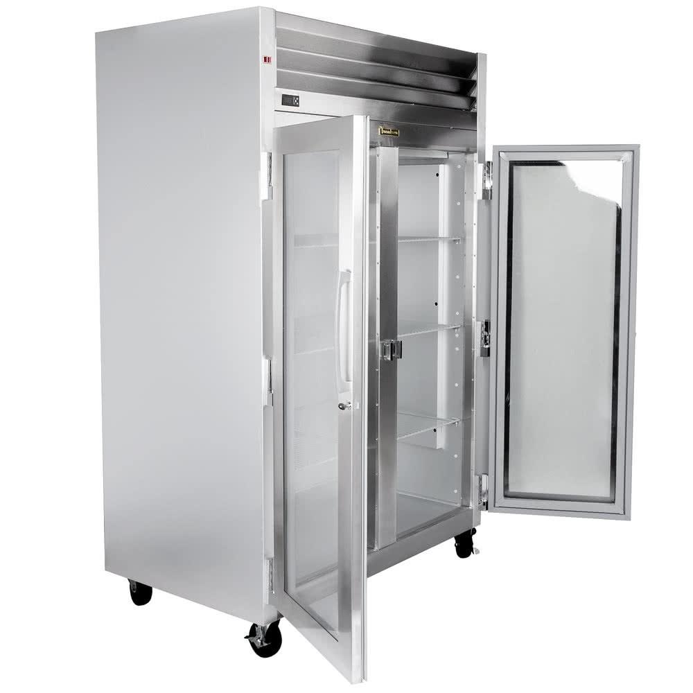 R frig rateur 2 portes vitr es pleine grandeur 120 1 60 for Grandeur de porte