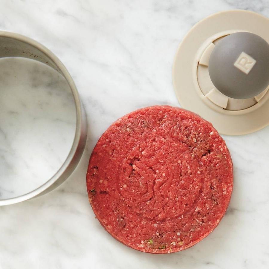 Presse-burger en acier inoxydable et en nylon