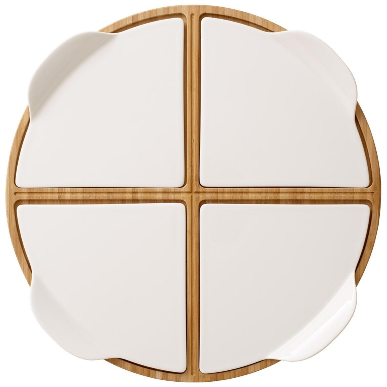 Plateau de service cinq pièces - Pizza Passion