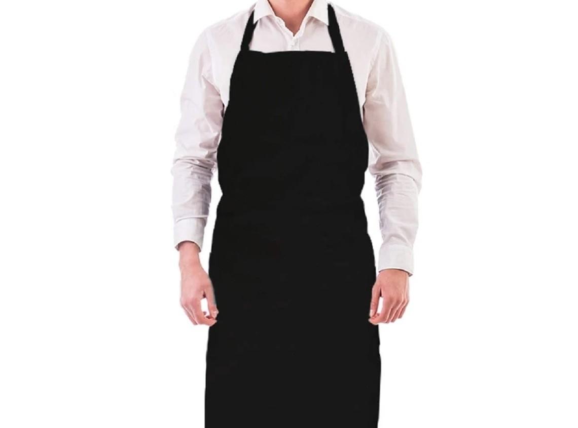Tablier bavette en polyester - Noir