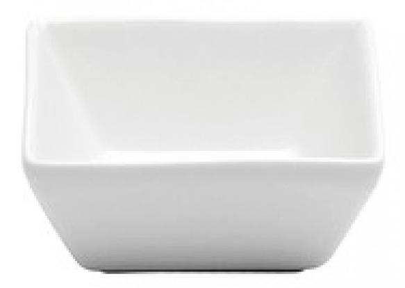 Récipient à condiment carré en porcelaine 4 oz - Bright White Ware