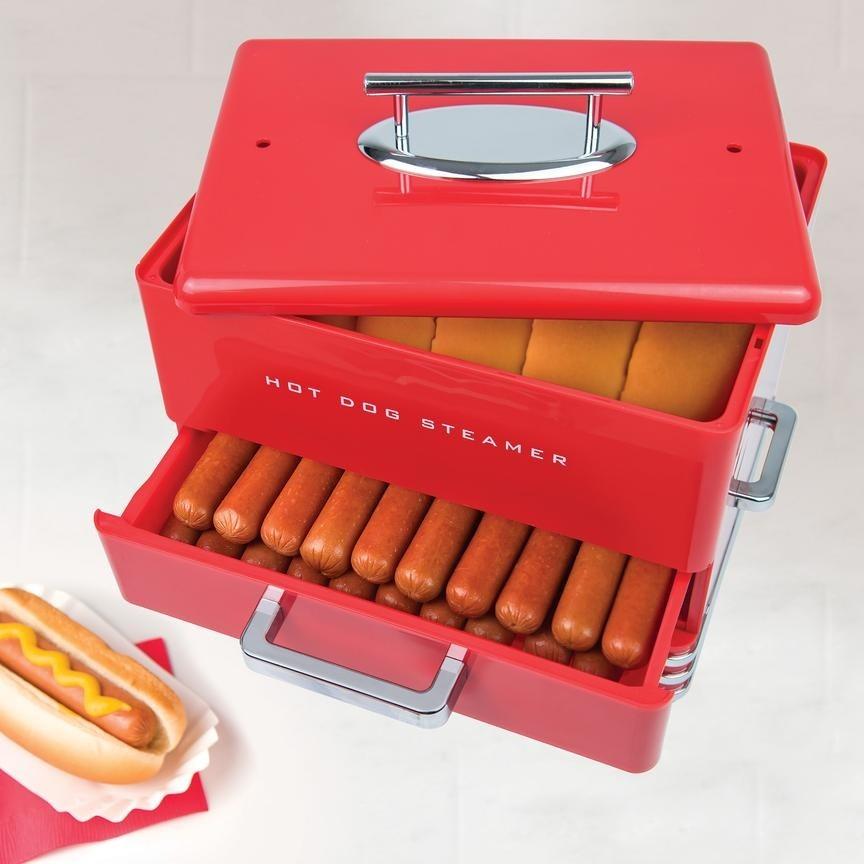 Cuiseur vapeur à hot-dogs