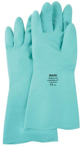 """Paire de gants en nitrile StanSolv 18"""" - Vert"""