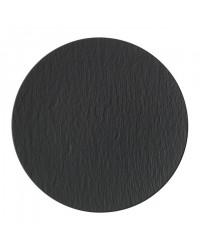 Assiette ronde 12,5'' - Manufacture Rock gris-noir