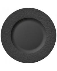 Assiette ronde 10,5'' - Manufacture Rock gris-noir