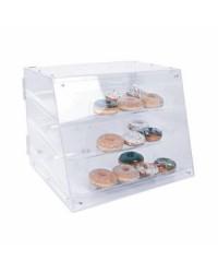 Présentoir à pâtisseries en acrylique à trois plateaux 21''