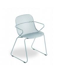 Chaise d'extérieur avec appuis-bras Ramatuelle 73' - Bleu ether