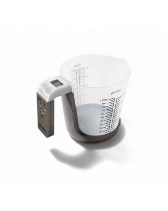 Tasse à mesurer en plastique et balance deux-en-un - 1 L
