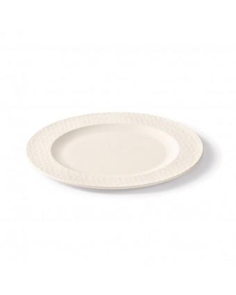Assiette ronde en bambou 11''