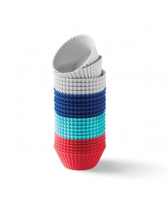 Ensemble de 24 moules à mini-muffin en silicone