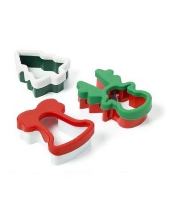 Ensemble de trois emporte-pièces en silicone Noël