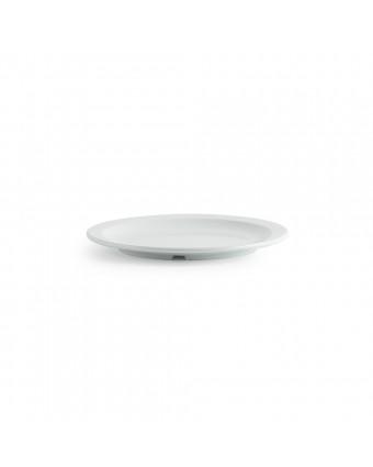 "Assiette ronde en mélamine 10"" - Miralyn blanc"