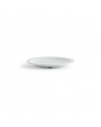 Assiette ronde en mélamine 8'' – Miralyn blanc