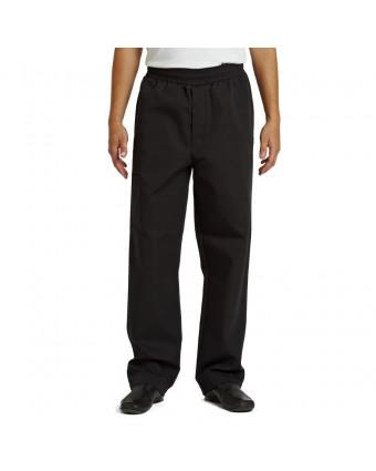 Pantalon de chef pour homme moyen - Noir