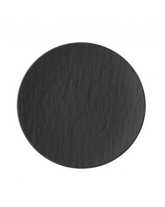 """Assiette ronde 6,25"""" - Manufacture Rock gris-noir"""