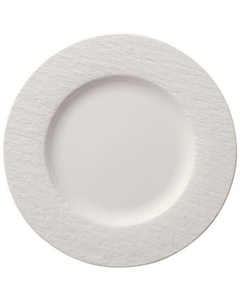 Assiette ronde 10,5'' - Manufacture Rock blanc
