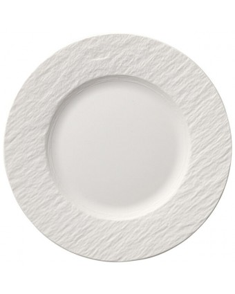 Assiette ronde 8,5'' - Manufacture Rock blanc