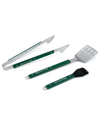 Ensemble pinces et spatule à tourner en acier inoxydable et pinceau en silicone