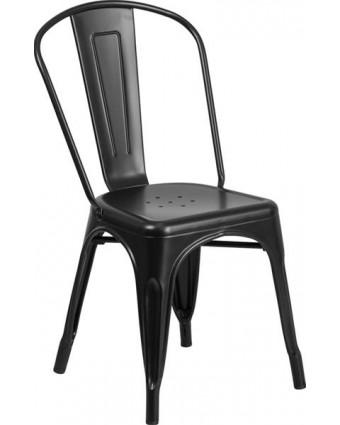 Chaise en métal Soho - Noir