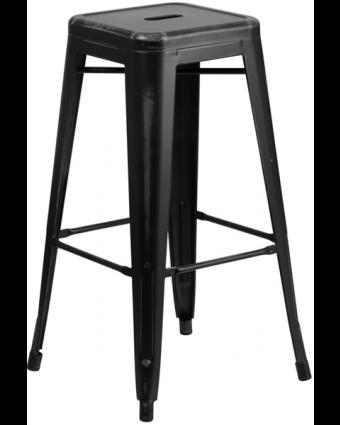 Tabouret de bar en métal Soho - Noir