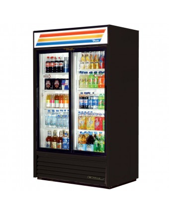 Réfrigérateur deux portes coulissantes 41 pi³ - Noir