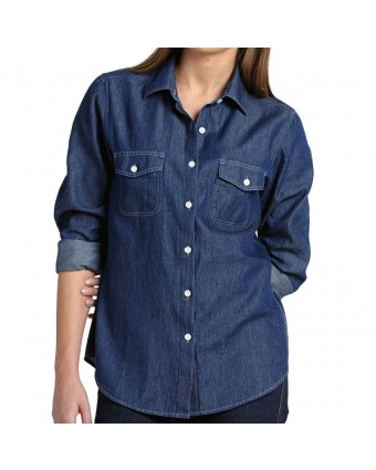 Chemise en denim pour femme moyen - Bleu