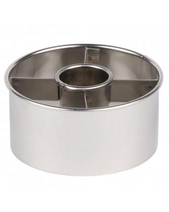 Emporte-pièce à beigne en acier inoxydable 3,5''