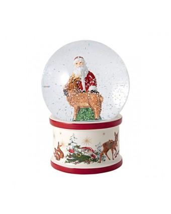 Boule de neige Père Noël et renne - Christmas Toy's