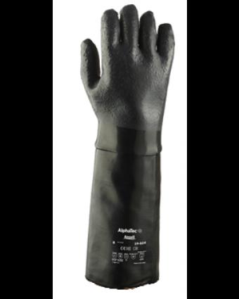 """Paire de gants en néoprène taille 10 AlphaTec 18"""" - Noir"""