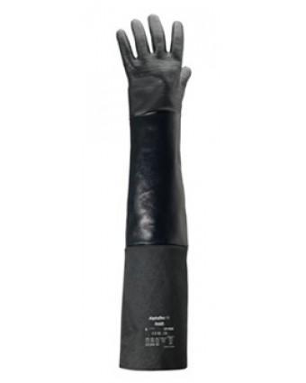 """Paire de gants en néoprène taille 10 AlphaTec 26"""" - Noir"""