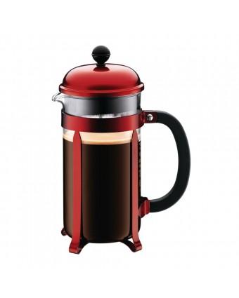 Cafetière à piston Chambord 8 tasses – Rouge métallique