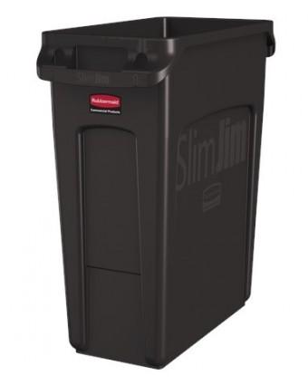 Poubelle Slim Jim 60,6 L - Brun