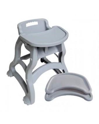 Chaise haute en plastique gris