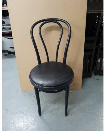 Chaise en métal avec siège rembourré (usagée)