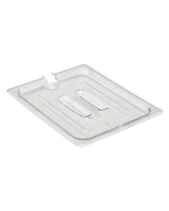 Couvercle transparent avec poignée et encoche pour cuillère Camwear - 1/6