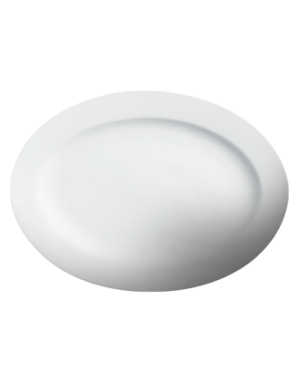 """Assiette ovale 10,25"""" x 7,375"""" - Imperial White"""