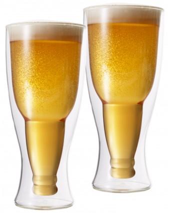 Ensemble de deux verres à bière à double paroi 12,3 oz