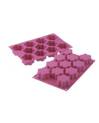 Moule en silicone à onze cavités - Fleur