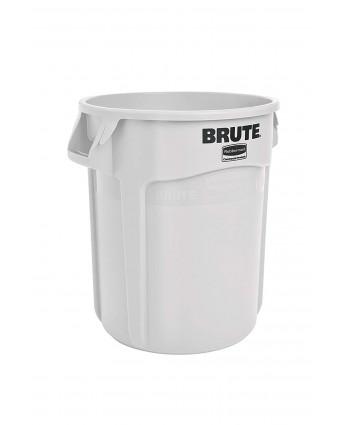 Poubelle Brute 121,1 L - Blanc