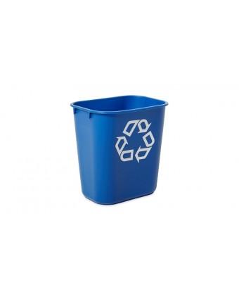 Poubelle rectangulaire à recyclage 12,3 L - Bleu