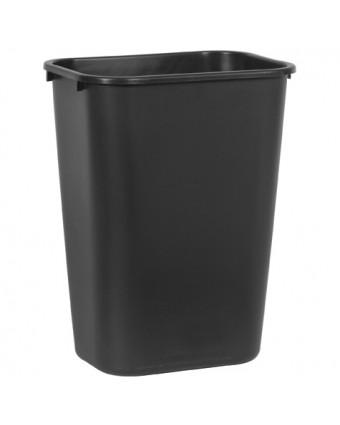 Poubelle rectangulaire 38,8 L - Noir