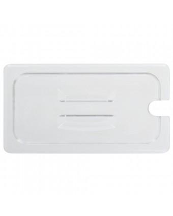Couvercle transparent avec poignée et encoche pour cuillère Camwear - 1/3