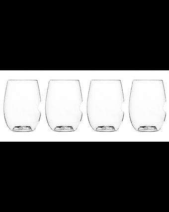 Ensemble de quatre verres à vin en plastique 16 oz