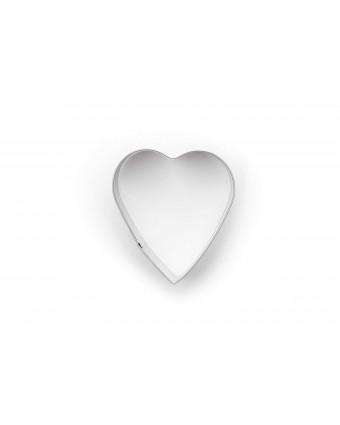 Emporte-pièce en acier inoxydable coeur 2,5''