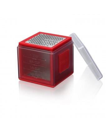 Cube râpe en acier inoxydable – Rouge