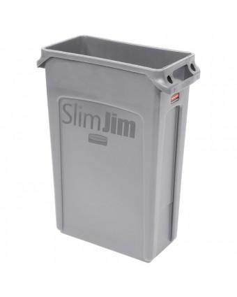 Poubelle Slim Jim 23 gallons - Gris