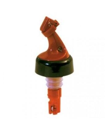 Bec verseur en plastique à débit contrôlé avec collier et clapet 1 oz - Rouge