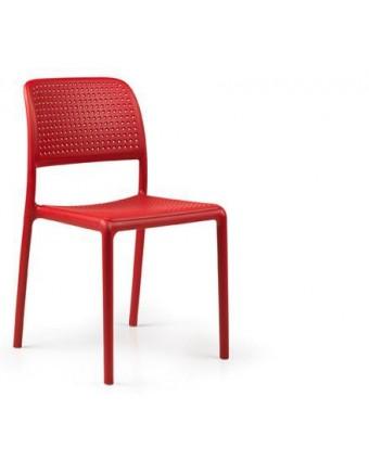 Chaise en résine Bora Bistrot - Rosso