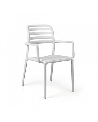 Chaise d'extérieur avec appuis-bras Costa - Bianco