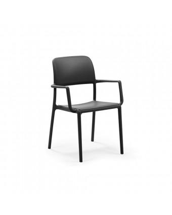 Chaise d'extérieur avec appuis-bras Riva - Anthracite